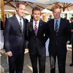 Prince William and Prince Harry with David Beckham in South Africa for England World Cup bid 79571