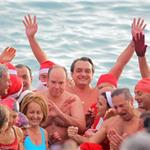 Prince Albert attends the Swimming Christmas in Monaco 100960