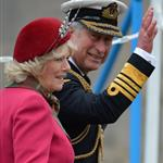 Prince Charles and Camilla, Duchess of Cornwall at a march at the Palace of Holyroodhouse in Edinburgh, Scotland 114146