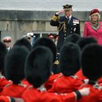 Prince Charles and Camilla, Duchess of Cornwall at a march at the Palace of Holyroodhouse in Edinburgh, Scotland 114147