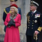 Prince Charles and Camilla, Duchess of Cornwall at a march at the Palace of Holyroodhouse in Edinburgh, Scotland 114151