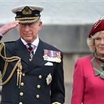 Prince Charles and Camilla, Duchess of Cornwall at a march at the Palace of Holyroodhouse in Edinburgh, Scotland 114153