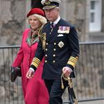 Prince Charles and Camilla, Duchess of Cornwall at a march at the Palace of Holyroodhouse in Edinburgh, Scotland 114154