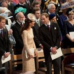 Prince Harry, Catherine, Duchess of Cambridge and Prince William during a service of thanksgiving to mark the Queen's Diamond Jubilee at St Paul's cathedral on June 5 116471
