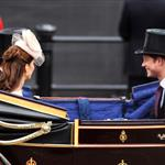 Prince Harry and Catherine, Duchess of Cambridge look on during the Diamond Jubilee carriage procession after the service of thanksgiving at St.Paul's Cathedral on The Mall on June 5 116504