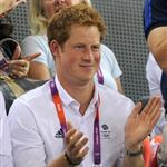 Prince Harry and Peter Phillips on Day 11 of the London 2012 Olympic Games at the Velodrome  122691