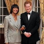 Prince Harry and Jamaican Prime Minister Portia Simpson-Miller pose together at a reception before a state dinner in the King's House in Kingston, Jamaica 108258