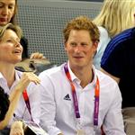 Prince Harry at the Velodrome during the 2012 London Summer Olympics 122724