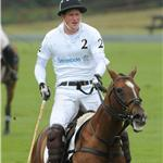 Prince Harry in a tight white shirt at polo with brother Prince William  87292