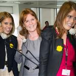 Princesses Beatrice and Eugenie and Sarah Ferguson attend BGC Charity Day 94145