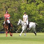 Prince Harry plays in the Audi Polo Challenge 114422