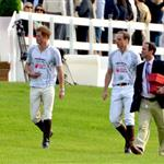 Prince Harry and Prince William play in the Audi Polo Challenge 114437