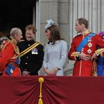 Prince Philip, Prince Harry, Catherine, Duchess of Cambridge and Prince William attend the 2012 Trooping the Colour ceremony at the Horse Guards Parade 117843