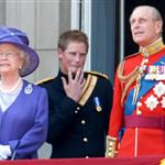 Queen Elizabeth II, Prince Philip Duke of Edinburgh and Prince Harry at The Queen's 80th Birthday Parade in 2006 124134