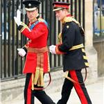 Prince William and Prince Harry arrive for The Royal Wedding 112724