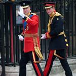 Prince William and Prince Harry arrive for The Royal Wedding 112732