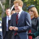 Prince Harry arrives for a thanksgiving service for the Queen Mother and Princess Margaret at St George's Chapel 110246