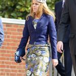 Princess Beatrice arrives for a thanksgiving service for the Queen Mother and Princess Margaret at St George's Chapel 110248