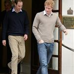Prince William and Prince Harry leave the Duke of Yorks hospital after visiting their grandfather 116947