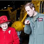 Prince William escorts Queen Elizabeth II at RAF Valley  82449