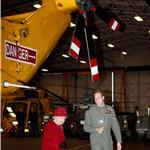 Prince William escorts Queen Elizabeth II at RAF Valley  82450