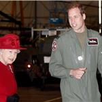 Prince William escorts Queen Elizabeth II at RAF Valley  82451