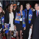 Camille Gottlieb, Pauline Ducruet, Princess Stephanie of Monaco, Princess Charlene of Monaco and Prince Albert II of Monaco attend the opening ceremony Monte-Carlo 36th International Circus Festival 103590