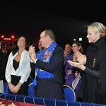 Princess Stephanie of Monaco, Princess Charlene of Monaco and Prince Albert II of Monaco attend the opening ceremony Monte-Carlo 36th International Circus Festival 103592
