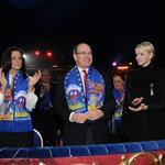 Princess Stephanie of Monaco, Princess Charlene of Monaco and Prince Albert II of Monaco attend the opening ceremony Monte-Carlo 36th International Circus Festival 103593