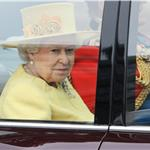 Queen Elizabeth II and Prince Philip arrive for the Royal Wedding  84040