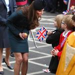 Catherine, The Duchess of Cambridge accompanies Queen Elizabeth II during a visit to Leicester for the Queen's Diamond Jubilee 108350
