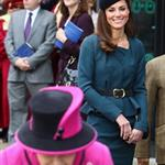 Catherine, The Duchess of Cambridge accompanies Queen Elizabeth II during a visit to Leicester for the Queen's Diamond Jubilee 108359
