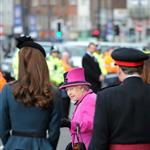 Catherine, The Duchess of Cambridge accompanies Queen Elizabeth II during a visit to Leicester for the Queen's Diamond Jubilee 108361