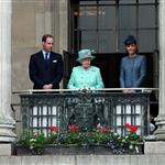 Queen Elizabeth II, Prince William and Catherine at The Old Market Square In Nottingham For Diamond Jubilee Visit 117405
