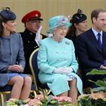 Queen Elizabeth II, Prince William and Catherine at The Old Market Square In Nottingham For Diamond Jubilee Visit 117420