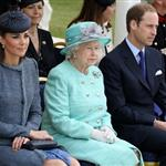 Queen Elizabeth II, Prince William and Catherine at The Old Market Square In Nottingham For Diamond Jubilee Visit 117424
