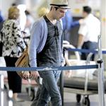 Zachary Quinto with porn stache headed to Mexico 40339