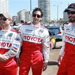 Adrien Brody, Keanu Reeves, Christian Slater, and Brian Austin Green at 2010 Toyota Pro Celebrity Race Press day 58304