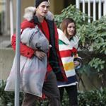 Hayden Christensen and Rachel Bilson in HBC Olympic clothing after leaving gifting suite 55619