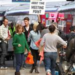 Rachel McAdams shoots About Time at Paddington Station  117697
