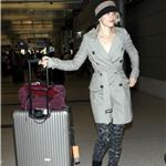 Rachel McAdams arrives at LAX wearing interesting pants  95334