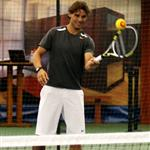 Rafael Nadal participating in a tennis clinic with children from The Child Center of NY 92825