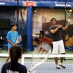 Rafael Nadal participating in a tennis clinic with children from The Child Center of NY 92828