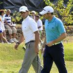 Rafael Nadal plays with Sergio Garcia at the ProAm Golf Tournament Masters in Castellon, Spain  96713
