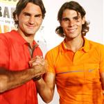 Rafael Nadal and Roger Federer at Grapple in the Apple press conference 23888