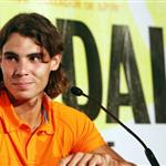 Rafael Nadal and Roger Federer at Grapple in the Apple press conference 23889