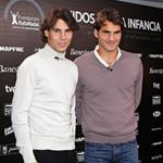 Rafael Nadal and Roger Federer play charity matches to end the year 2010  75618