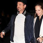 Robert Downey Jr. and wife Susan out at the Hollywood Bowl to watch Coldplay perform 113132