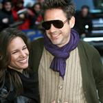 Robert Downey Jr (with wife Susan) at Letterman 52309