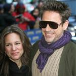 Robert Downey Jr (with wife Susan) at Letterman 52310